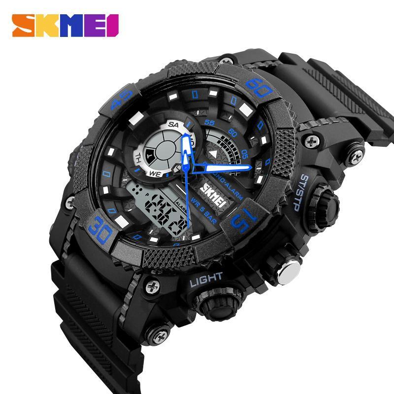 Đồng hồ điện tử nam thể thao SKMEI 1228 đỉnh cao 3 kim 3 màn hình kết cấu trẻ trung, phong cách hợp thời trang