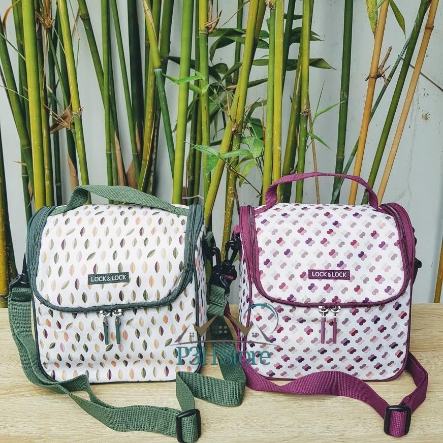Túi giữ nhiệt có tay xách Lock&Lock cho bộ cơm hộp thủy tinh hình chữ nhật LBF404GN , LBF404WN