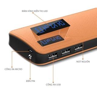 HÀNG CHẤT LƯỢNG CAO 30.000MAH + TẶNG CÁP SẠC 25K PIN DỰ PHÒNG SAMSUNG LCD 30,000MAH GIẢ DA CAO CẤP-Sạc có thể tự động thumbnail