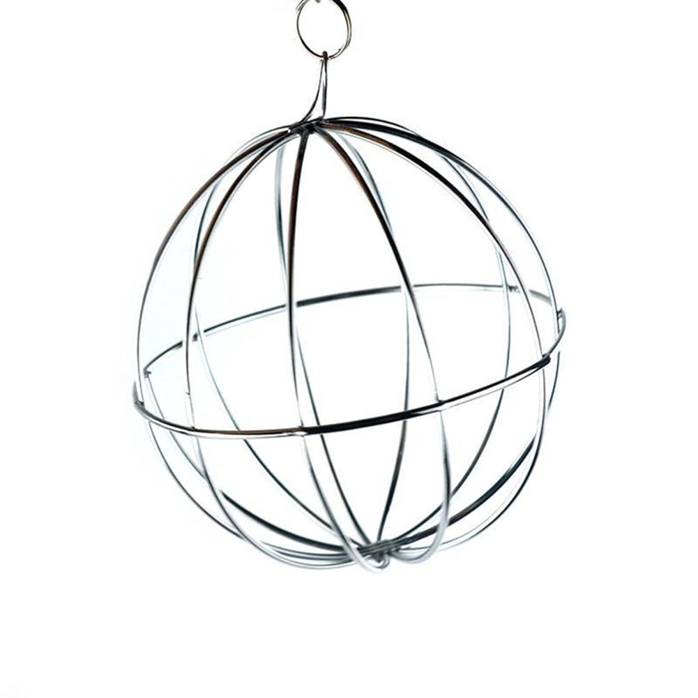 Stainless Steel Round Sphere Feed Dispense Hanging Hay  Guinea Pig Hamster Rat Rabbit Pet Toy