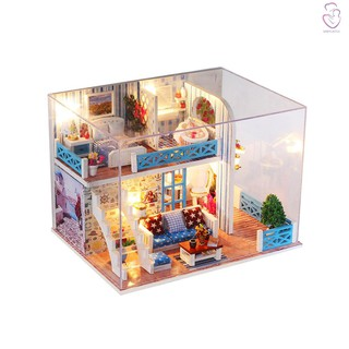 【bca】Miniature Super Mini Size Doll House Model Building Kits Wooden Furniture Toys DIY Dollhouse Girl Bedroom Home of