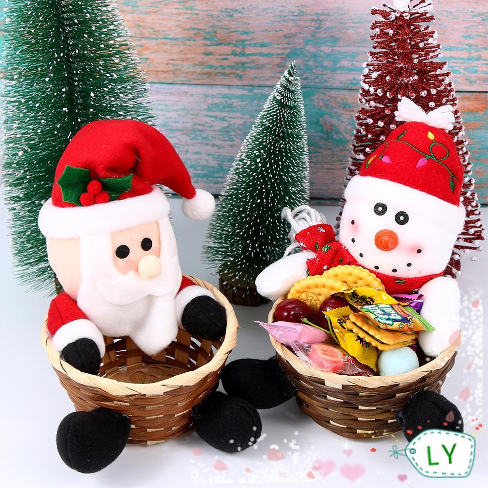 Giỏ Đựng Bánh Kẹo Phong Cách Giáng Sinh Độc Đáo