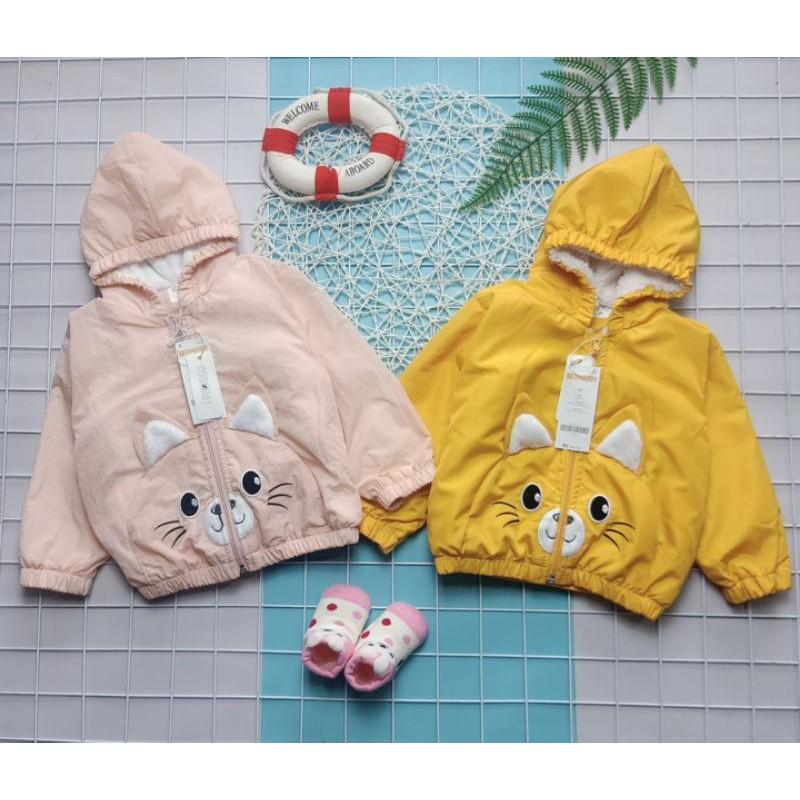 Áo phao lót lông tai thỏ cho bé 10-30kg QATE466, quần áo trẻ em