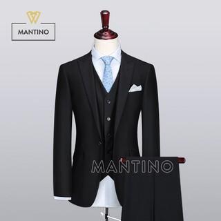 Bộ Vest Đen Mịn Ve Nhọn AV302 - MANTINO