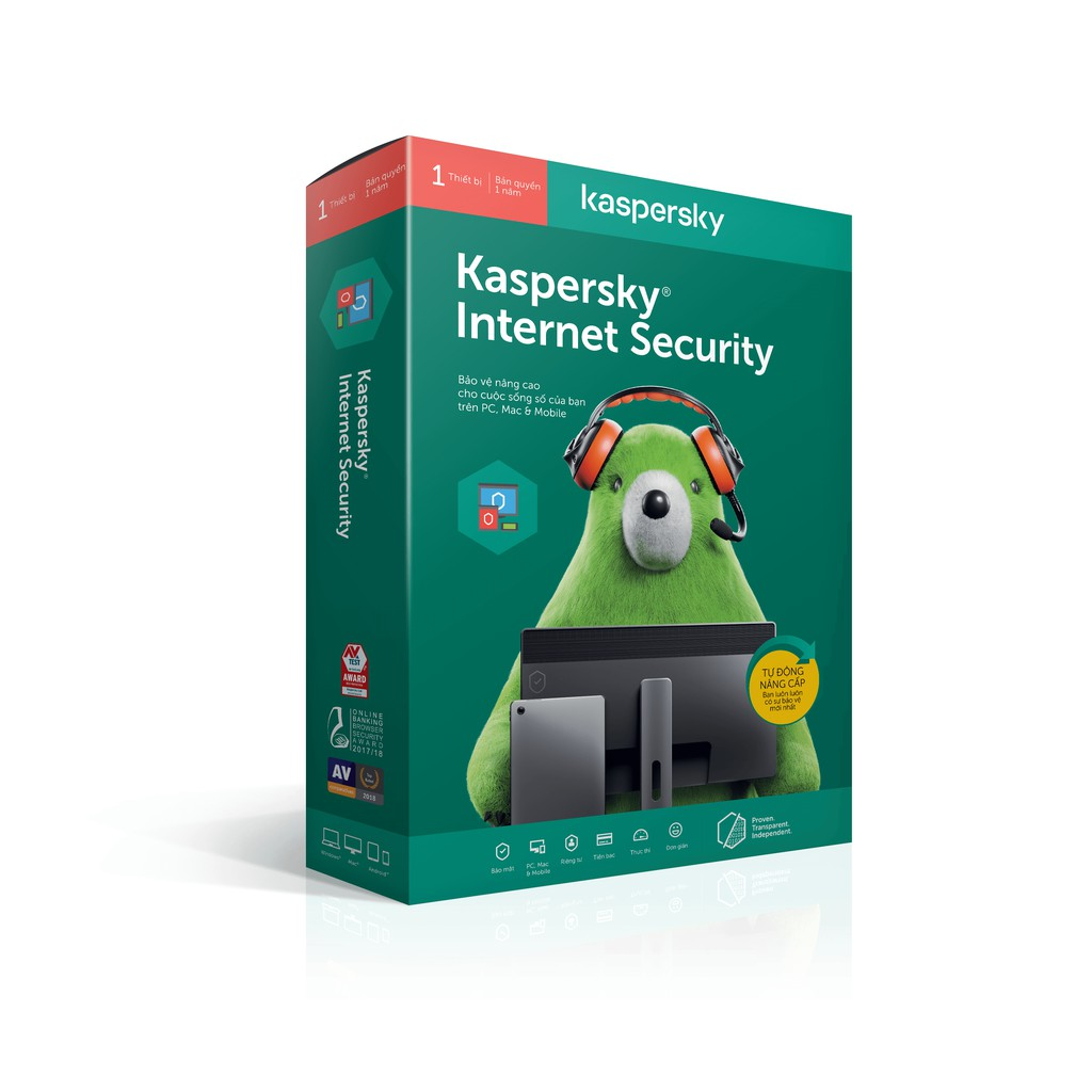 Phần Mềm Kaspersky Internet Security 1-5PC/1Year