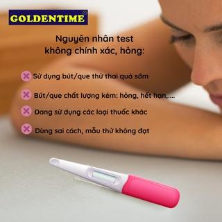 Que thử thai bút thử thai test nhanh độ chính xác cao của Goldentime 5