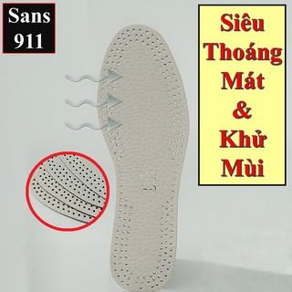 Lót Giày Khử Mùi Thoáng Khí Cặp Lót Giày Êm Ái Mát Mẻ Sans911 thumbnail