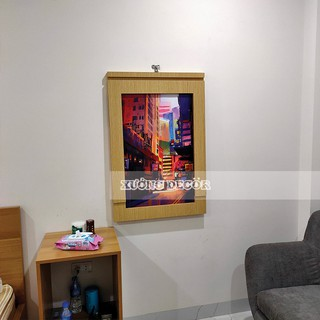 Bàn gấp treo tường tranh Canvas 60x90cm cao tiêu chuẩn 75cm gỗ MDF đa năng tiện ích, và giá tốt