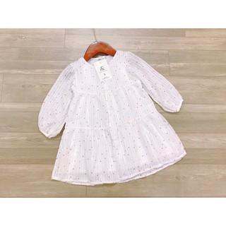 Váy trắng chấm đỏ li ti bé gái ⚡𝗙𝗥𝗘𝗘 𝗦𝗛𝗜𝗣⚡ Váy trắng chấm đỏ li ti bé gái (size nhỡ)