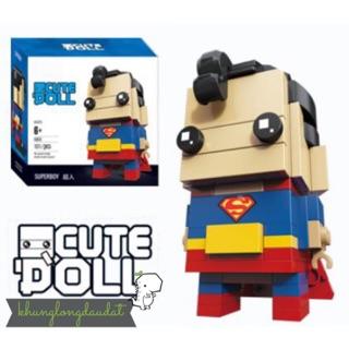 [Có Sẵn] Mini Block – Mô Hình Lắp Ghép – Lego Mini CuteDoll Super Man Size Vừa