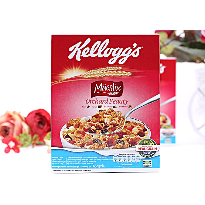 combo 2 Ngũ cốc dinh dưỡng Mueslix Orchard Beauty Kellogg