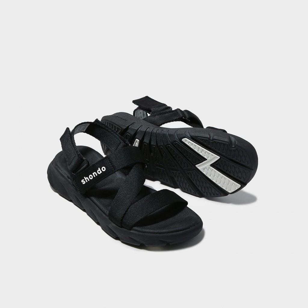 Giày Sandals SHONDO F6 Sport đen full - F6S301