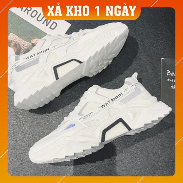 [Tặng Quà + Hàng Xịn] Giày thể thao nam, Giày nam tăng chiều cao 5cm Phản Quang WATAHHH cực chất CK01