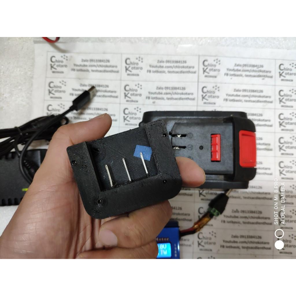 in 3D] Bộ đế sạc và báo pin kèm nguồn dự phòng 5V 3A cho máy BOSS, pin ETP  21V và các pin có dạng tương tự giá cạnh tranh