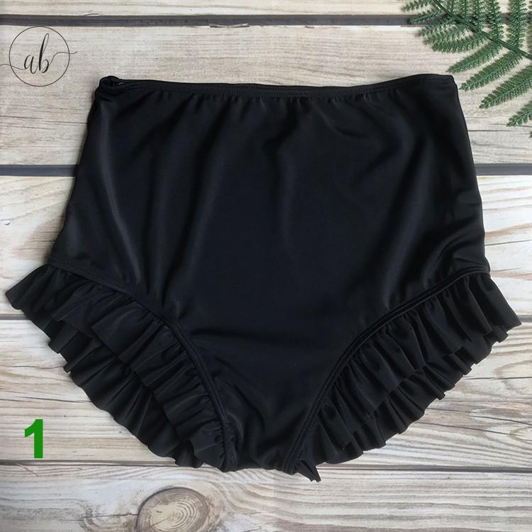 Quần bơi nữ đẹp,cạp cao,dây rút (Mẫu 1-8)( Freesize 40 - 60kg)