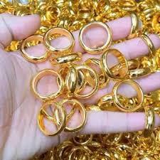 Nhẫn vàng tây nữ, nhẫn chỉ cô dâu làm lễ cưới thiết kế thời trang sang trọng Trang Sức Miga V - đeo làm công sở cực sang