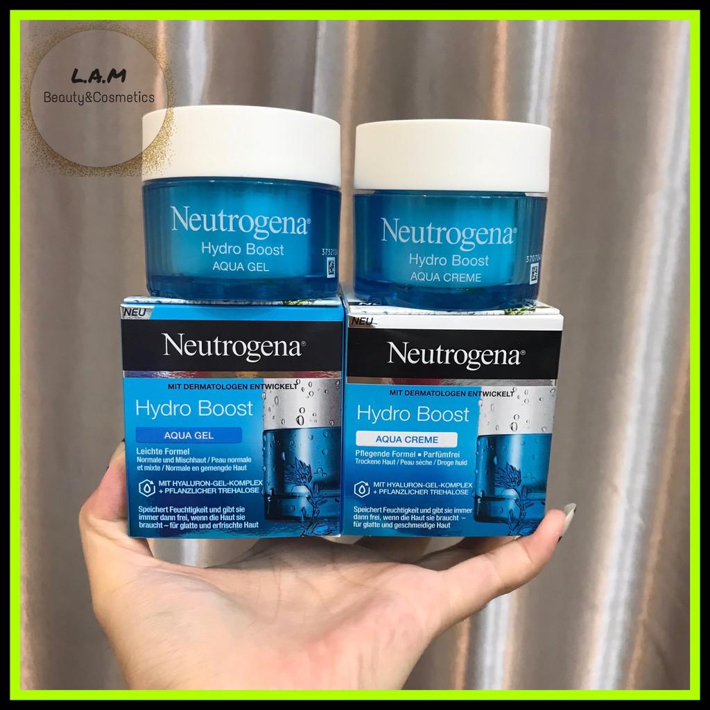 Kem Dưỡng Ẩm, Cấp Nước Neutrogena Hydro Boost Aqua Gel & Aqua Cream Pháp (Mẫu Mới)