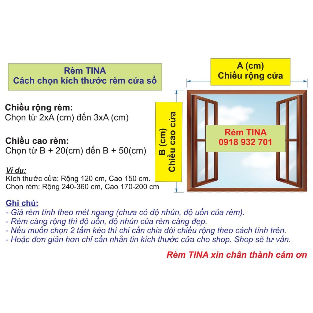 Rèm cửa đi, cửa phòng ngủ, rèm cửa sổ trang trí giá rẻ, chống nắng TNS-039
