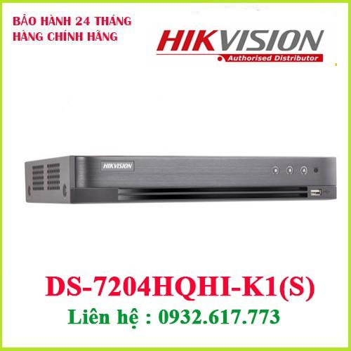 Đầu ghi hình HD-TVI 4 kênh TURBO 4.0 HIKVISION DS-7204HQHI-K1 (S)