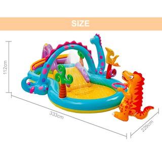 [Mã TOYSUPER giảm 10% tối đa 50K đơn từ 50K] Bể bơi cầu trượt phun mưa khủng long INTEX 57135