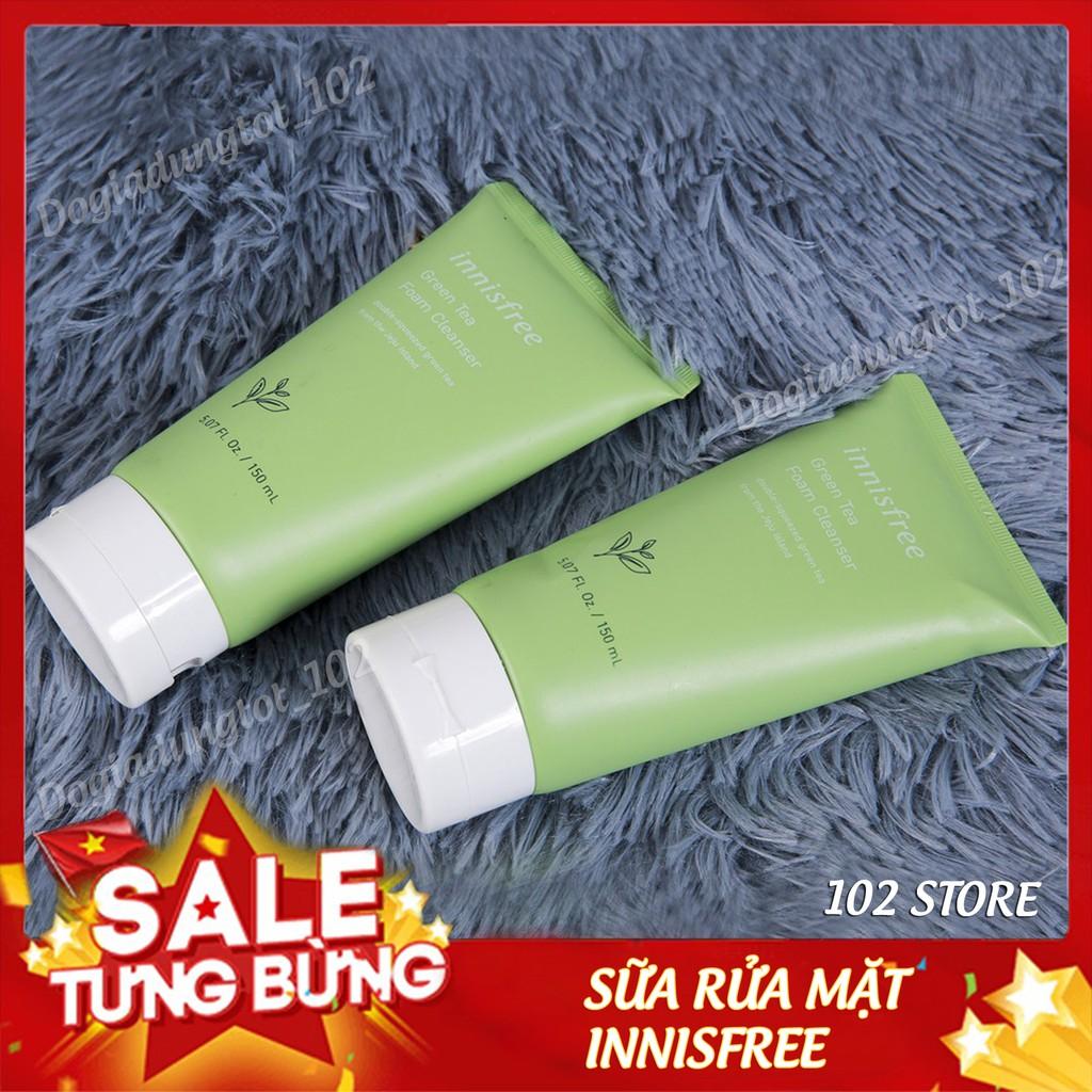 Sữa rửa mặt trà xanh Innisfree Green Tea Foam Cleanser 150ml Hàn Quốc