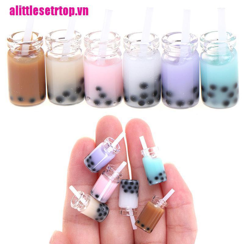 【well】3Pcs 1:12 Dollhouse miniature milk tea cups mini toys doll house decorat