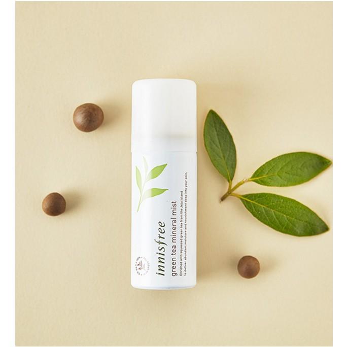 [Mini - Dễ mang theo] Xịt khoáng trà xanh Innisfree Green tea Mineral Mist 30 - 50 ml