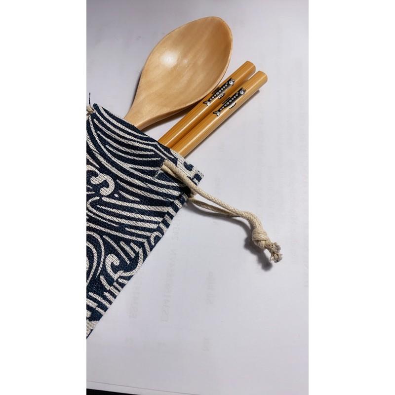 Bộ muỗng đũa gỗ cá nhân