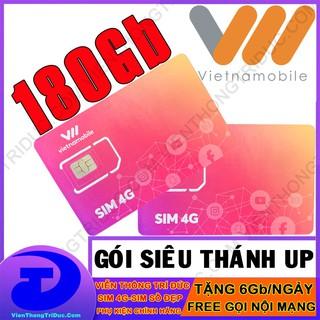 Thánh Sim 4G Vietnamobile Siêu Thánh Up & Trọn Đời Có 6Gb/Ngày – Gọi Miễn Phí – Không Giới Hạn Dung Lượng-Giá Siêu Rẻ