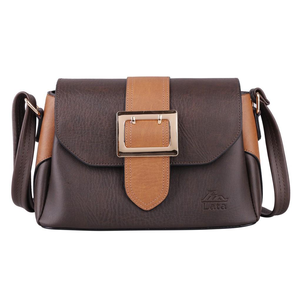 Túi đeo chéo nữ LATA HN60 màu nâu - [Hàng Mới]
