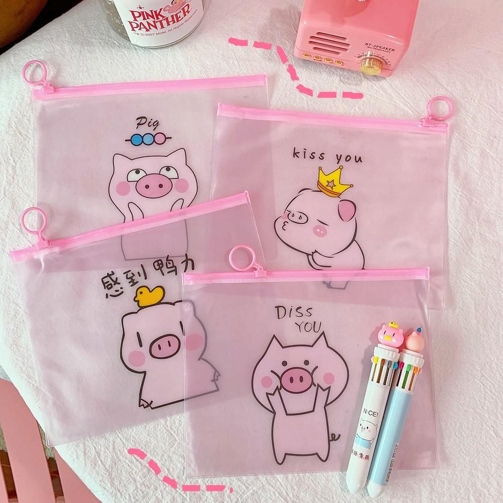 Túi đựng đồ dùng học sinh , đựng mỹ phẩm hình lợn cute mã 1001