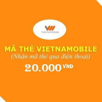Mã thẻ Vietnammobile 20.000