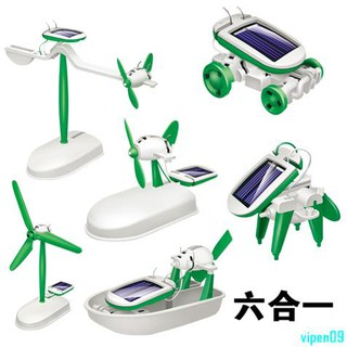 Solar diy robot car maker education science assembly toy creative science and technology small produ vipen09