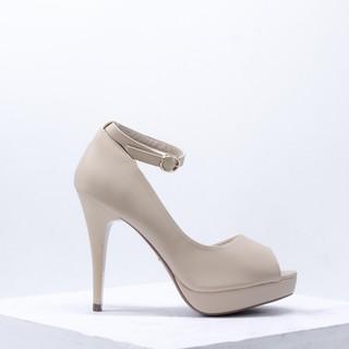 Giày Cao Gót Đúp Đế Hở Mũi Da PU 12cm Evashoes - Eva491