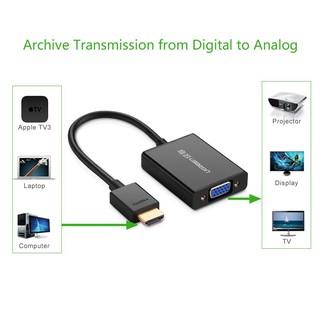 [Mã ELFLASH5 giảm 20K đơn 50K] Cáp chuyển HDMI sang VGA Ugreen 40233