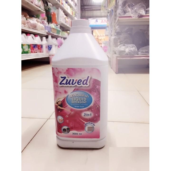 Combo 02 can nước giặt xả Zuved Thái Lan 2x3000ml