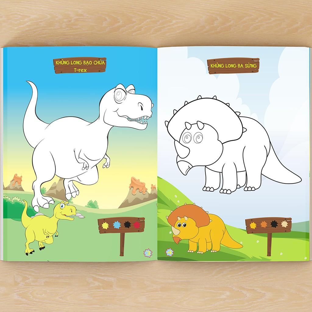 Sách - Bộ 6 Cuốn Tô Màu Cho Bé 3 Tuổi: Bé Tô Màu Phương Tiện Giao Thông, Tô Màu Khủng Long, Côn Trùng, Pokemon
