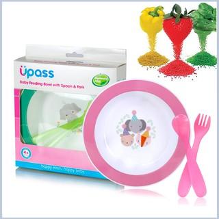 Bộ Bát Ăn dặm hữu cơ Upass kèm 2 dụng cụ thìa và dĩa cho bé