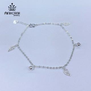 [Mã MCJ20 giảm 20K đơn từ 199K] Lắc Chân Bạc Hình Lá Và Bi - Minh Canh Jewelry thumbnail