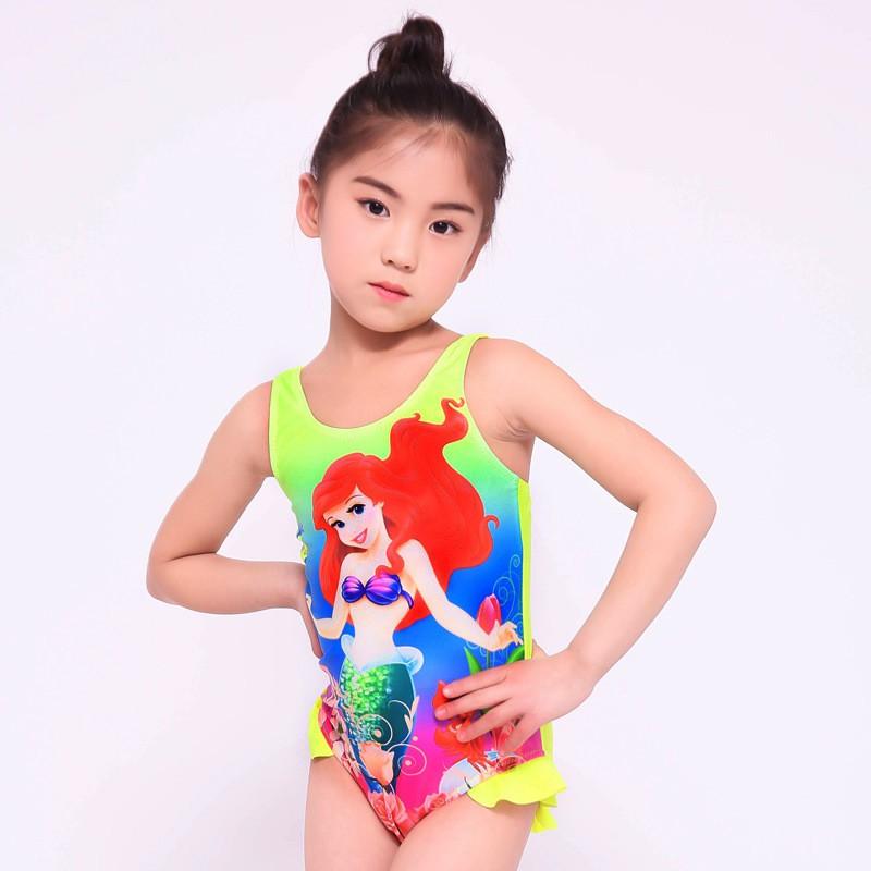 Váy bơi bé gái, váy bơi hoạ tiết công chúa đáng yêu