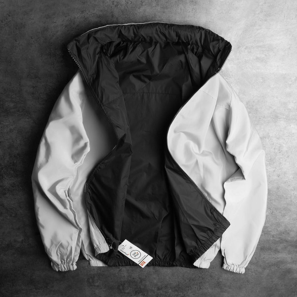 Áo Khoác Gió 2 mặt có mũ,2 lớp gió dầy dặn,chống nước,che nắng, mưa, mũ giấu được vào cổ áo
