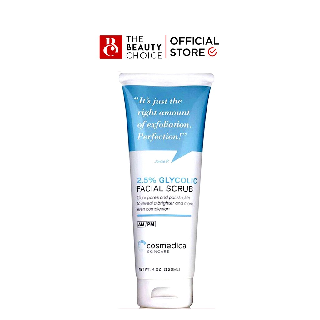 Tẩy Tế Bào Chết Cosmedica 2.5% Glycolic Facial Scrub (120mL)