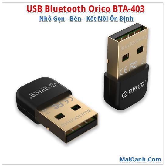 USB Bluetooth 4.0 Orico BTA-403 (Nhỏ Gọn – Bền – Kết nối ổn định) Giá chỉ 72.000₫