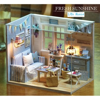 Fresh Sunshine – Nhà mô hình đồ chơi DIY ( TẶNG lọ keo 30ml và tấm MICA )