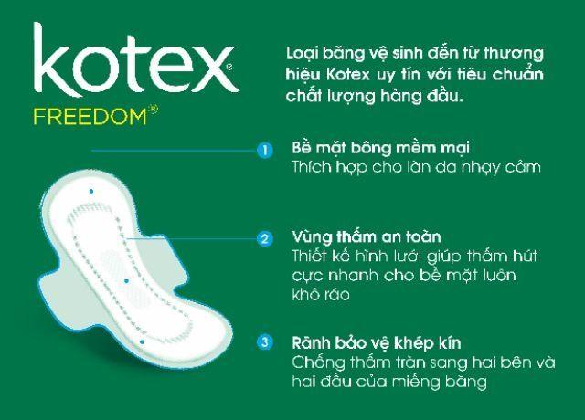 (8 Miếng)  Băng vệ sinh Kotex Maxi cánh chống tràn 23cm