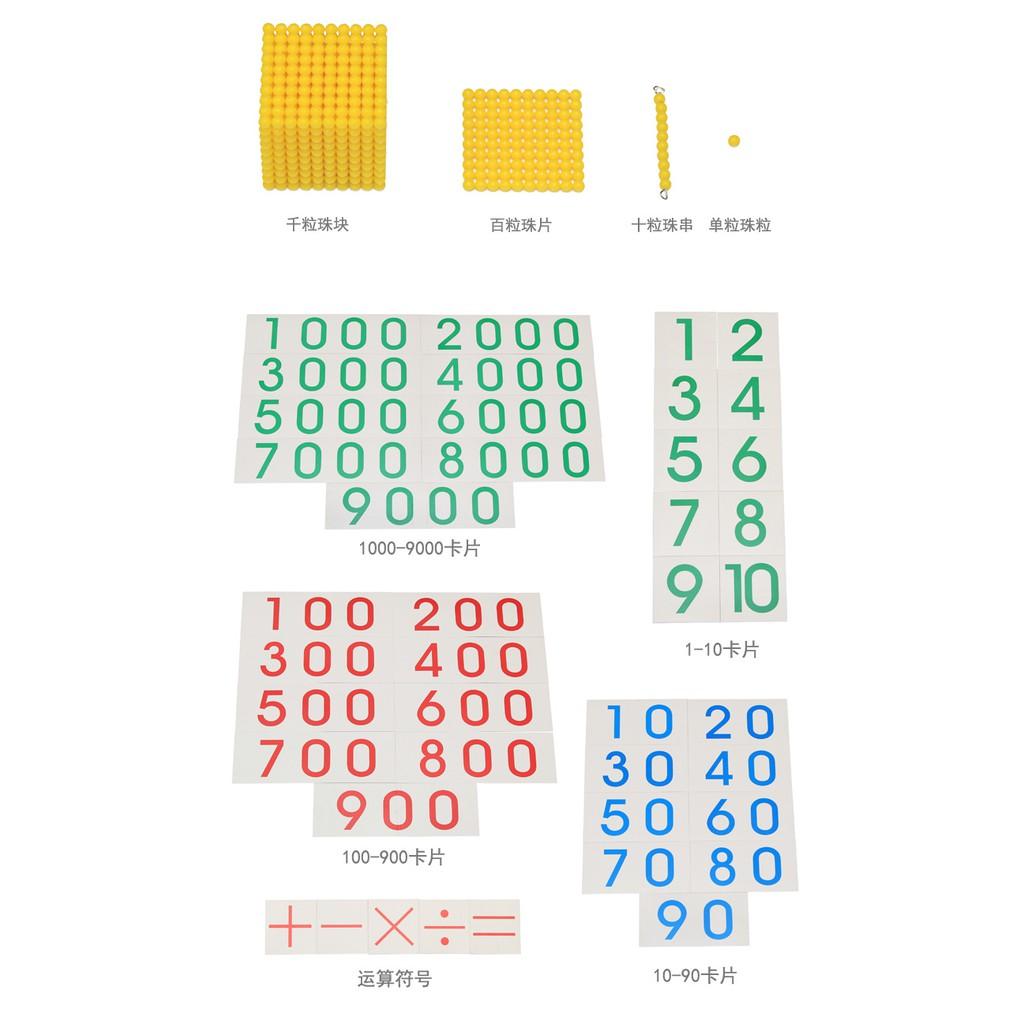 Trò chơi ngân hàng và giới thiệu hệ thập phân Montessori - Bank Game and Introduce decimal