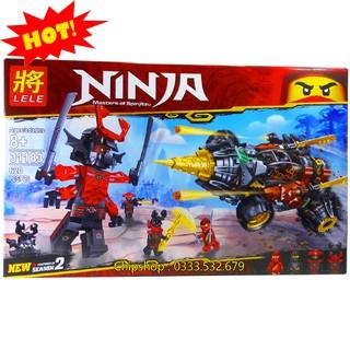 Bộ Lego Xếp Hình Ninjago Siêu Robot Máy Khoan. Gồm 620 Chi Tiết. Lego Ninjago Lắp Ráp Đồ Chơi Cho Bé