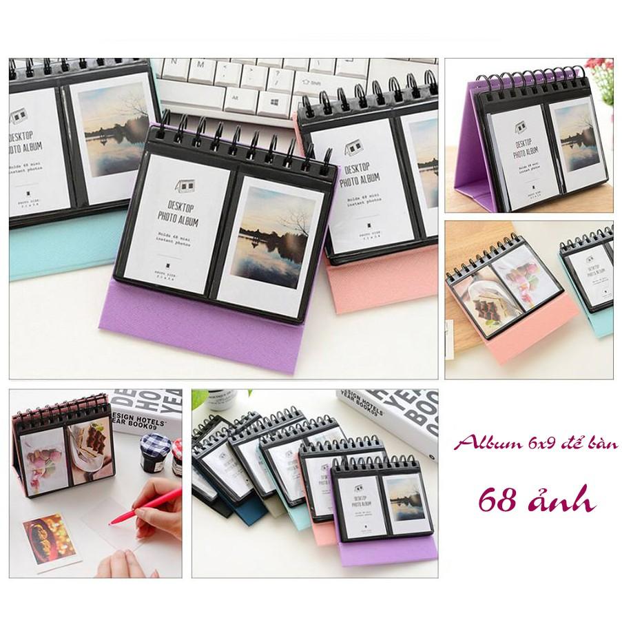 Sỉ 10 cuốn Album Ảnh mini 68 ảnh 6x9 để bàn lò xo siêu xinh