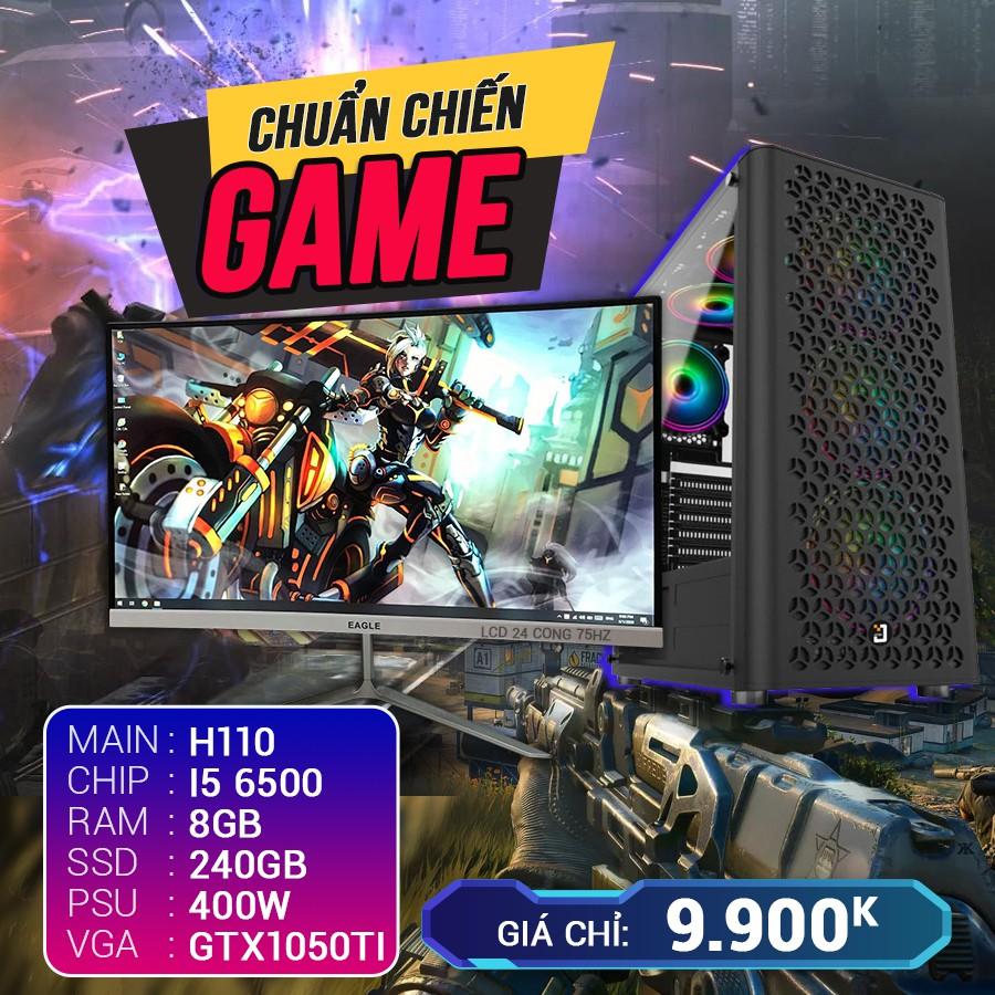 Cấu hình 7 CORE I5 RAM 8G VGA GTX1050TI SSD 240G LCD 24 CONG 75HZ bào hành 03 tháng