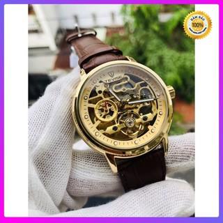 [ Đồng Hồ Cơ ] Đồng hồ nam tevise chính hãng automatic dây da [ Đồng Hồ Nam Cao Cấp]